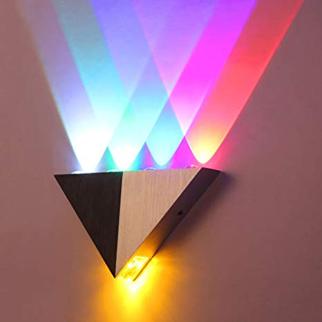 Lemonbest Modern Triangle 5W LED Wall Sconce Light Fixture Indoor