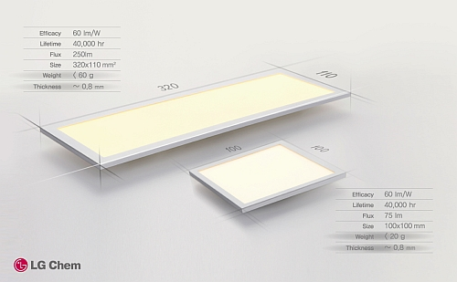 OLED lighting: LG Chem drops prices while Acuity adds amber fixture