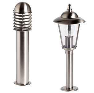 Outdoor stainless steel pedestal lights – noble for your garden
