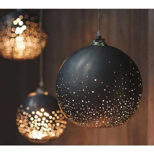 With pendant lights outside to provide light and enthusiasm