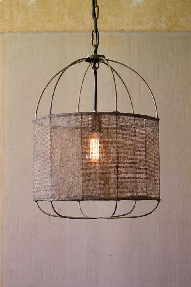 Kalalou Drum Pendant Light With Fabric Shade u2013 Modish Store