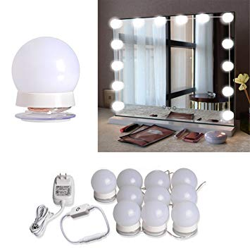 Hollywood Style LED Vanity Mirror Lights Kit with 10 Dimmable Light