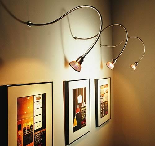 Add a Spark to your Wall Art with Picture Lights | Ideas 4 Homes