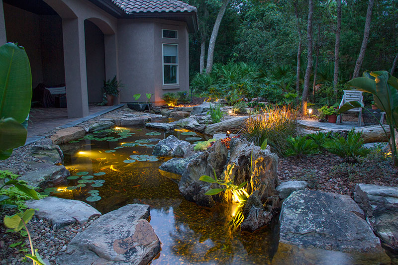 LED Underwater (Pond & Water Feature) Lighting Services -Rochester