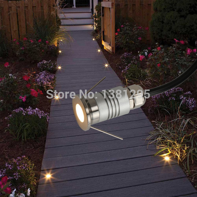LED Deck Light 12V 1W Waterproof Buried Lamp Outside Recessed Stair