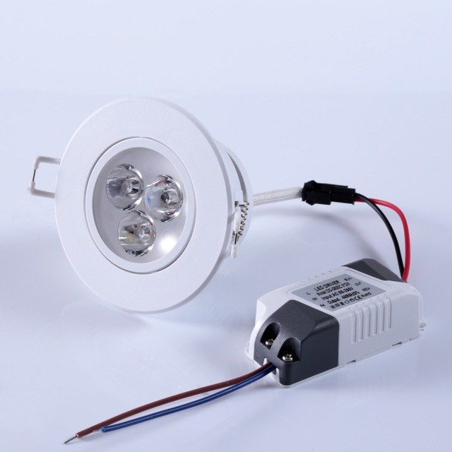 3w 12vdc Led Recessed Ceiling Down Light Lamp Bulb Spotlight
