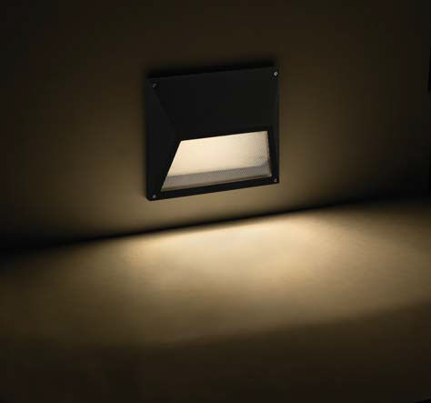 Recessed wall lights outside