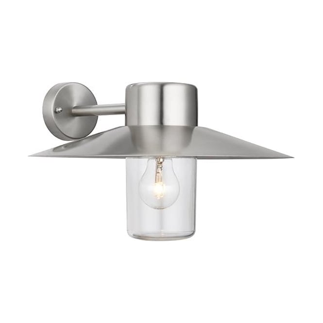Endon 60797 Fenwick 1 Light Outdoor Wall Light Polished Stainless