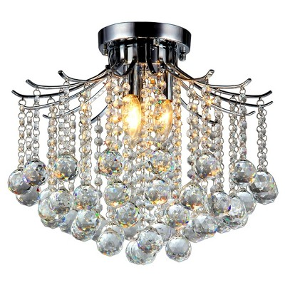 Warehouse Of Tiffany Chandelier Ceiling Lights - Silver : Target