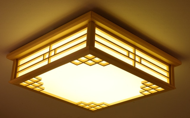 Dimmable Japanese Ceiling Lights Indoor Lighting Led Square Modern