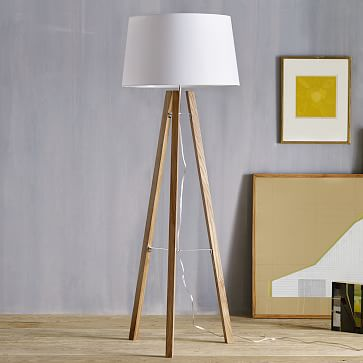 Tripod Wood Floor Lamp | west elm