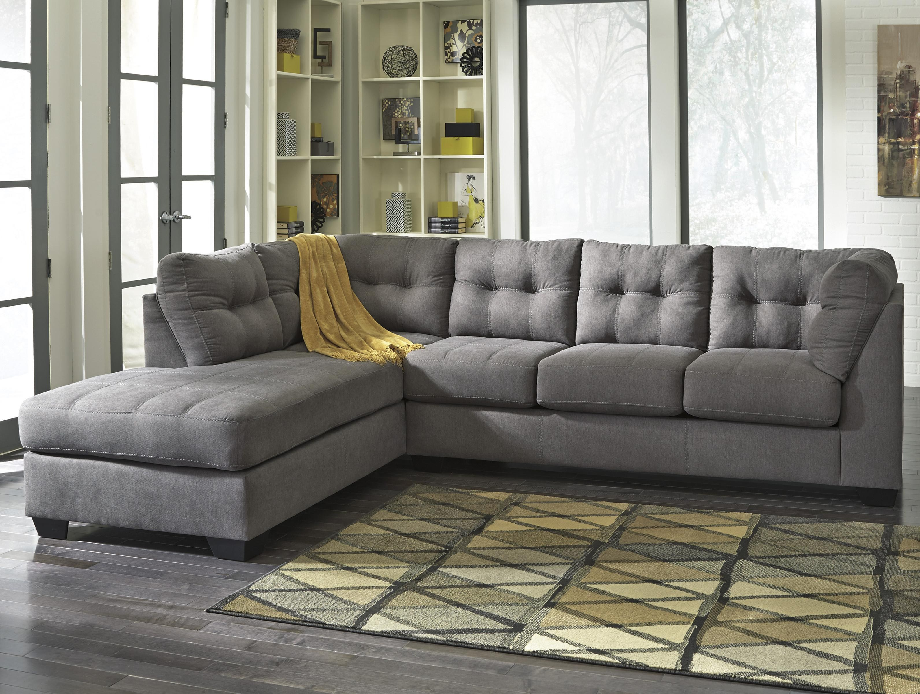 Maier - Charcoal 2-Piece Sectional w/ Sleeper Sofa & Left Chaise by  Benchcraft