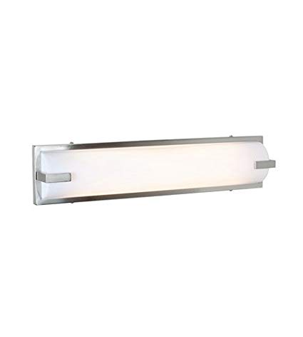 Bathroom Vanity 2 Light with Brushed Steel Finish and Metal Material
