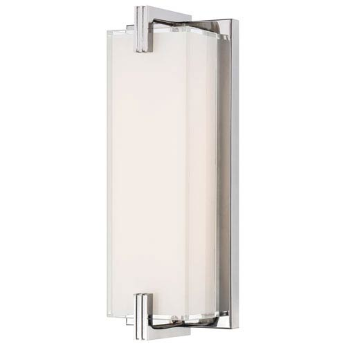 George Kovacs Cubism Chrome LED 12.75 Inch Bath Vanity Fixture P5219