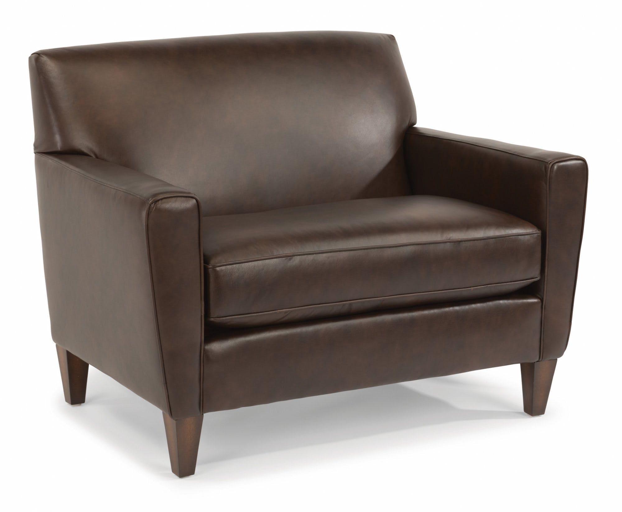 Flexsteel Leather Chair And A Half 3966-101