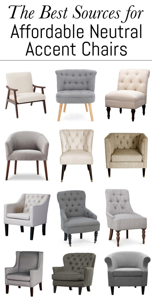 These are the absolute best sources for affordable neutral accent chairs.  You can