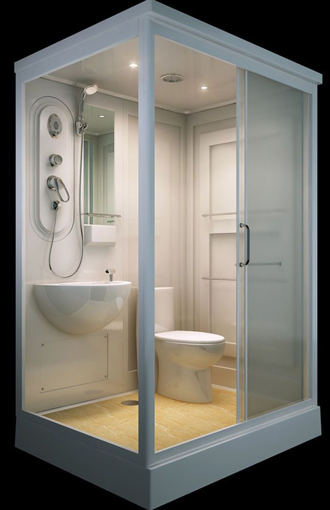 ALL IN ONE Flat Pack Modular Shower Room,Toilet, Basin Assembled size 140 x  110= in Industrial, Modular & Pre-Fab Buildings   eBay!