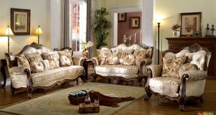 Details about French Provincial Formal Antique Style Living Room Furniture  Set Beige Chenille
