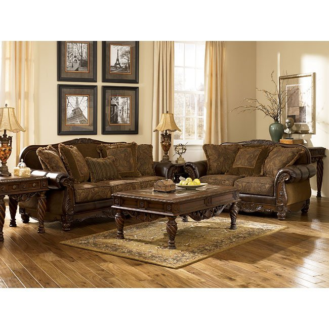 Fresco DuraBlend - Antique Living Room Set
