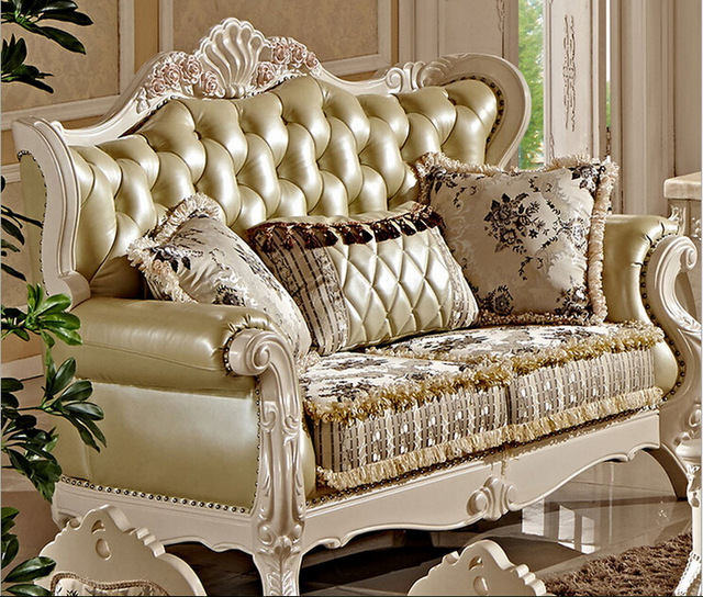 Villa antique sofa set designs FC8800