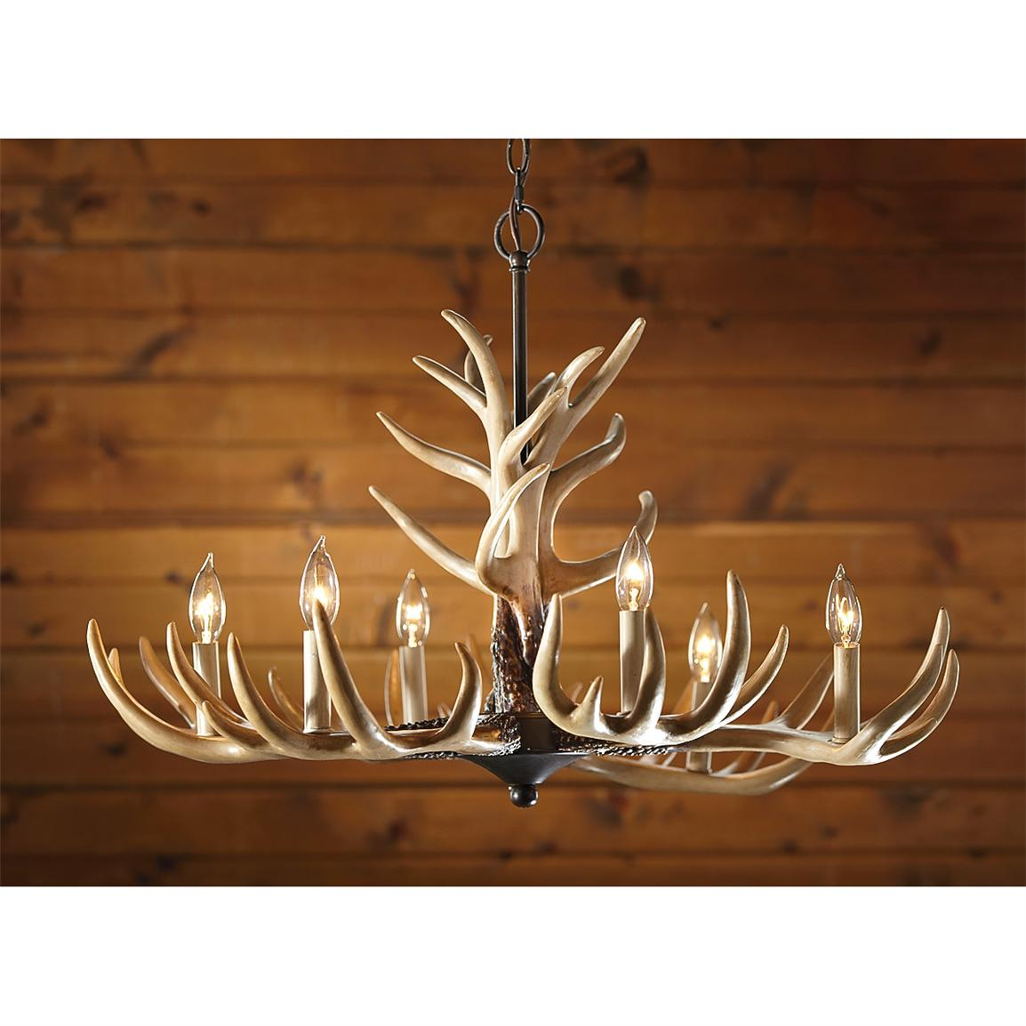 6-light Antler Chandelier
