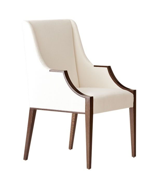 Zoom image Lisse Armchair Contemporary, Traditional, Transitional,  MidCentury Modern, Wood, Upholstery Fabric,