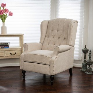 Shop Christopher Knight Home Walter Light Beige Fabric Recliner Club Chair  - On Sale - Free Shipping Today - Overstock - 20603185