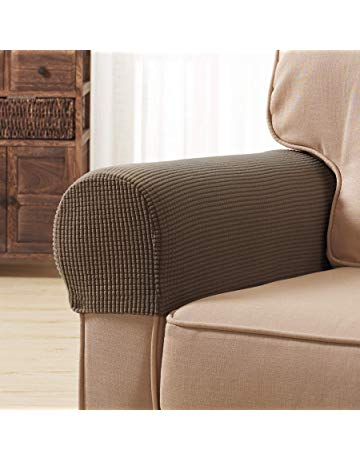 Subrtex Spandex Stretch Fabric Armrest Covers Anti-Slip Furniture Protector  Sofa Armchair Slipcovers for Recliner