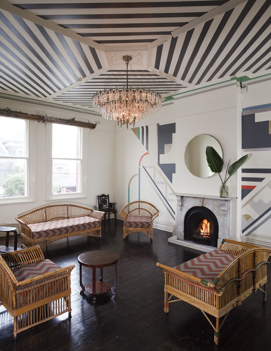 Art deco living room style is an old design that is match to be applied to  the interior of the house.
