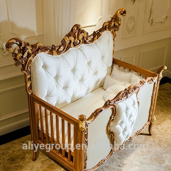 AK38-Solid germany beech wood baby cribs