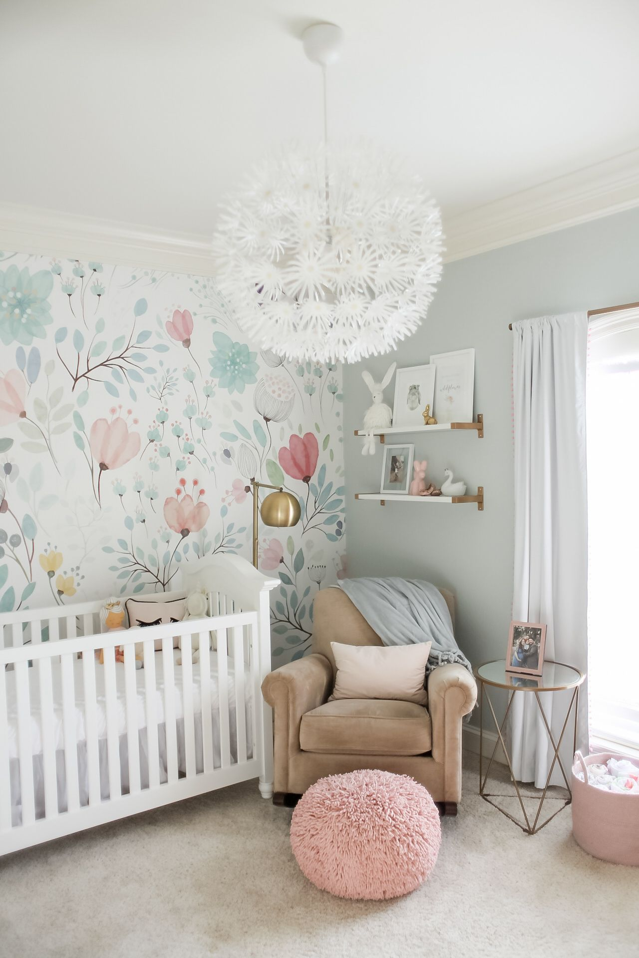 I scoured Pinterest and Instagram for inspiration and fell in love with  this wallpaper! Once