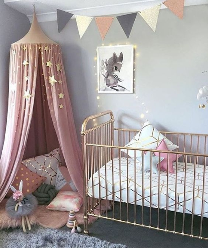 Cheap Yet Awesome Rainbow Baby Girl Room