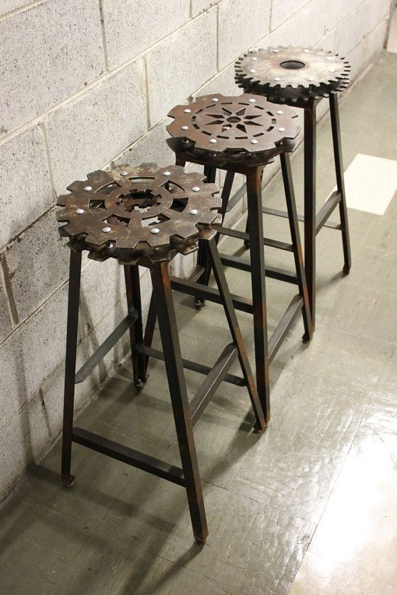 Pin by Jennifer Jennings on HOME | Pinterest | Industrial bar stools, Man  cave furniture and Steampunk house