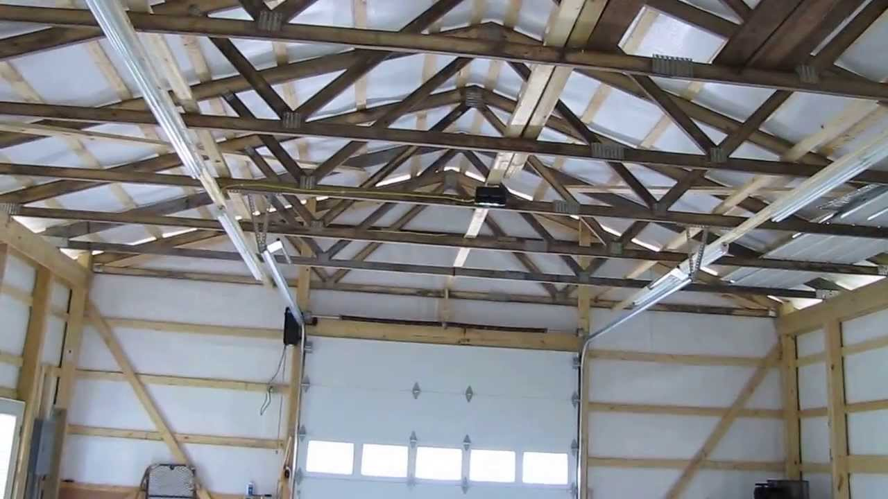 CHA Pole Barn Update We Got Grid Power LED And Fluorescent Lights !!! By  KVUSMC - YouTube