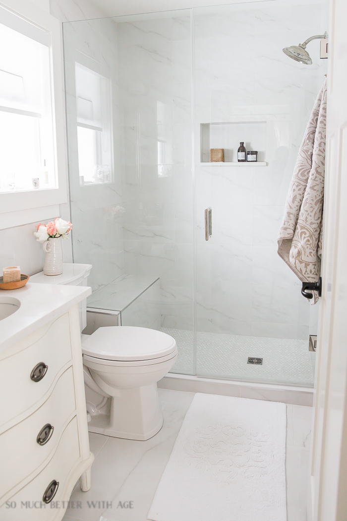 Small bathroom renovation and 13 tips to make it feel luxurious - So Much  Better With