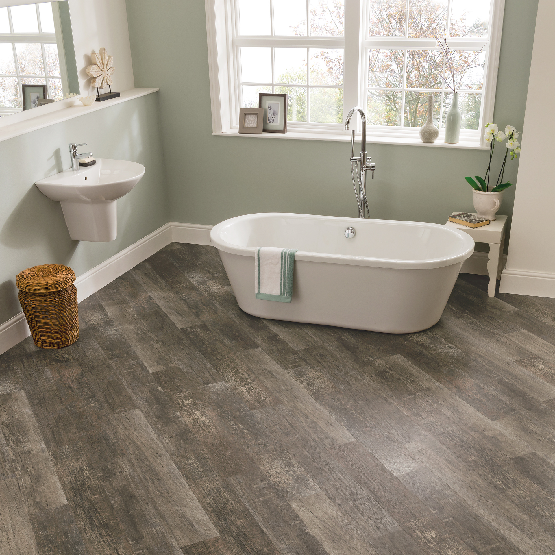 VGW99T Reclaimed Redwood Bathroom Flooring - Van Gogh