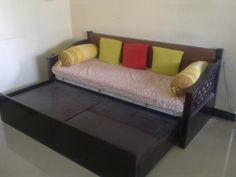 Sofa cum bed wood Online Furniture Stores, Beds For Sale, Sofa Design, Sofa