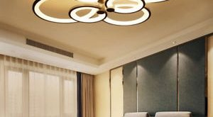 Image is loading Modern-Ceiling-Light-Acrylic-Led-Chandelier-Living-Room-
