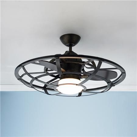 Industrial Cage Ceiling Fan | Building a House | Pinterest | Ceiling