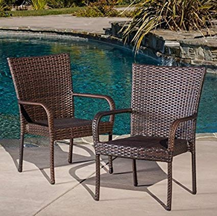 Amazon.com : Best Selling Outdoor Wicker Chairs, 2-Pack : Outdoor