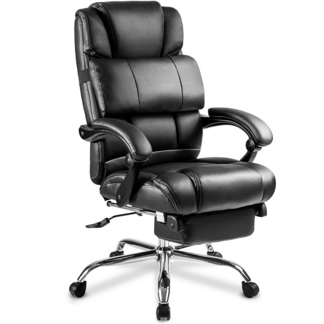 Merax Ergonomic Leather High Back Office Chair Big Tall Executive Recliner  Nap