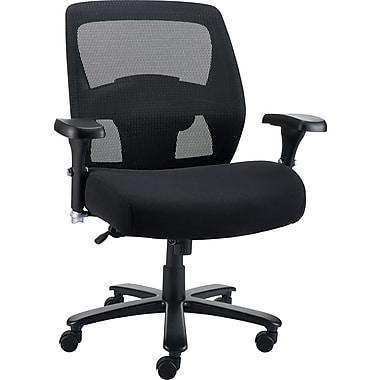 Staples Driscott Mesh Back Fabric Managers Big & Tall Chair, Black (28354)