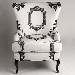 Black and white striped chair