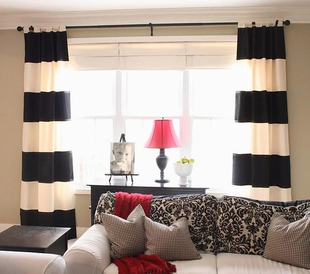Wide array in Black And White Curtains | Drapery Room Ideas