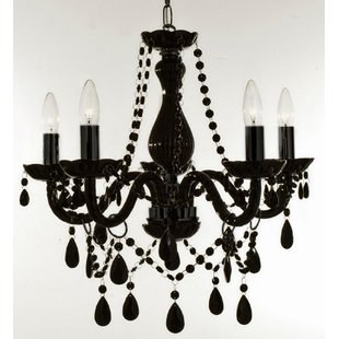 Holton 5-Light Black Candle Style Chandelier