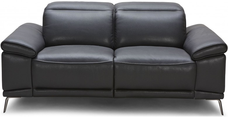 Giovani Black Leather Power Reclining Loveseat