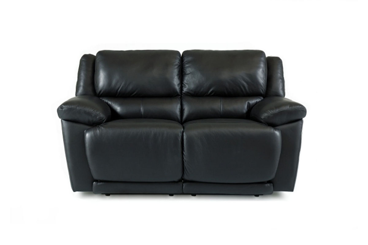 Delray Black Leather Reclining Loveseat from Gardner-White Furniture