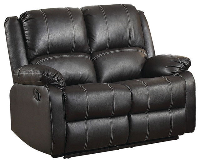 Black Leather Recliner Loveseat - Contemporary - Loveseats - by Titanic  Furniture Inc.