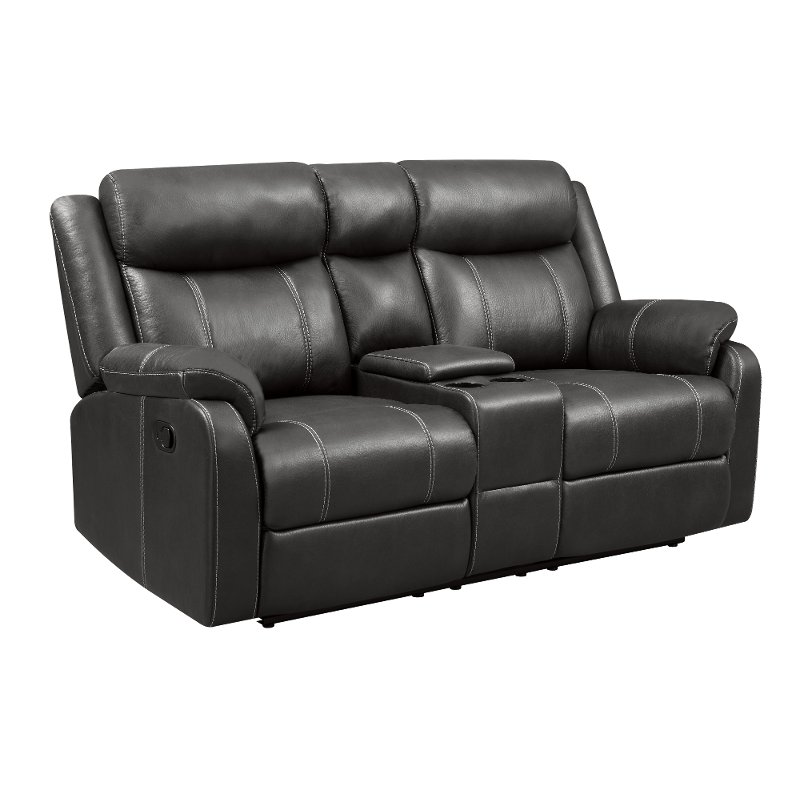 Valor Carbon Gray Reclining Loveseat - Domino | RC Willey Furniture Store