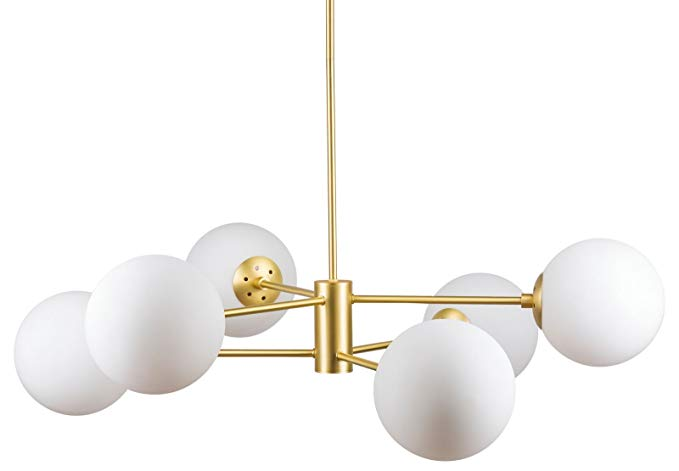 Caserti Modern Pendant Light Chandelier - Satin Brass - Linea di